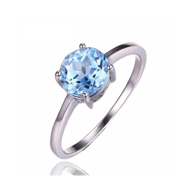 silver rings shape topaz ring genuine jewelrypalace sky xjel sterling dp pear blue