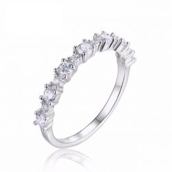 925 Sterling Silver Cubic Zircon Band Ring