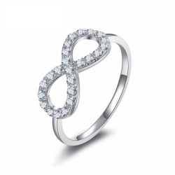 Infinity Knot Love Genuine 925 Sterling Silver Wedding Band