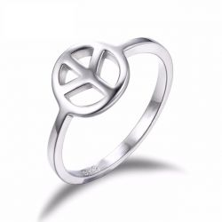 Cnd Symbol 925 Sterling Silver Ring Fine Jewelry Simple and Stylish