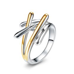 Gold & Silver Plated Cross Rings For Women