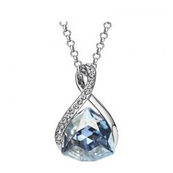 Austrian Crystal Rhinestone Platinum Plated Necklace Pendant for women