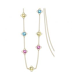 14K Gold Plated MADE WITH SWAROVSKI ELEMENTS Crystal  Necklaces