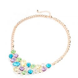 MADE WITH SWAROVSKI ELEMENTS Crystal Colorful Chain Necklaces