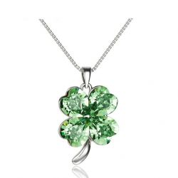 MADE WITH SWAROVSKI ELEMENTS Crystal  Beautiful Flower   Pendant Necklace