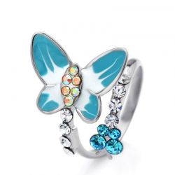 Adjustable Lovely Colorful Butterfly Rings  for Women