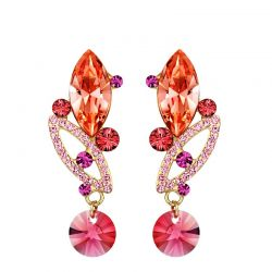 Made with Swarovski Elements Crystal Gold Plated Earrings for women