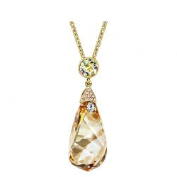 Austrian Crystal Alloy Plated Auden Rhinestone Long Necklaces For Women