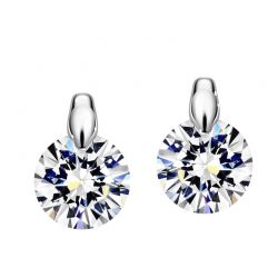 AAA+ Zircon Rose Gold & Platinum Plated Stud earring