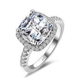 3ct Cubic Zirconia Wedding Solitaire Engagement Ring Solid 925 Sterling Silver