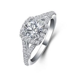 2.2ct Cubic Zirconia Solitaire Engagement Ring Genuine 925 Sterling Silver