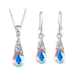Fashion Austrian Crystal Rhinestone Jewelry  Sets Necklaces Pendants & Earrings