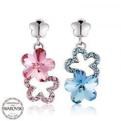 Crystals from Swarovski Fashion Flower Shape Earring