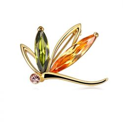 Crystals from Swarovski Multicolor Crystal Brooch for Women