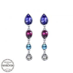 Fashion Oval shape multicolor Swarovski crystal  Dangle Earrings  for women