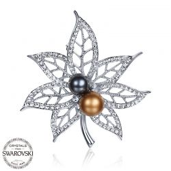 Simulated  Pearls  Crystals from Swarovski Brooch for Women