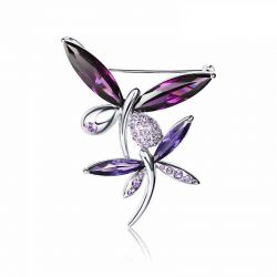 Crystal butterfly brooch  with Crystals from SWAROVSKI