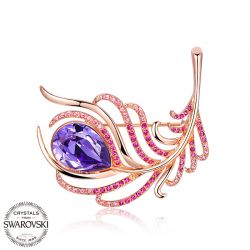 Classic fashion jewelry brooch with SWAROVSKI elements gift For Women