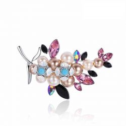 Bohemia light luxury fashion jewelry brooch Birthday gift  for Mother
