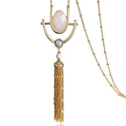 Crystal Pendants Artificial Turquoise Tassels Long Chains