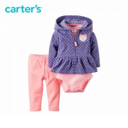 Carter's 3 pcs baby children kids Fleece Cardigan Set