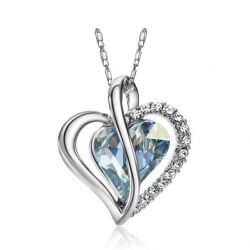 Austria Crystal Rhinestone Love Heart Pendant Necklaces for Women