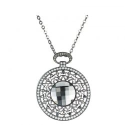 MADE WITH SWAROVSKI ELEMENTS Crystal Nickle Free Pendant Punk Vintage Necklaces