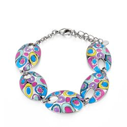 Colorful Enamel Fashion Jewelry Bangles for Women