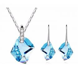 Crystal from Swarovski Necklace Earrings Women