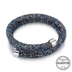 Crystals From SWAROVSKI Double Layered Bracelet For Women