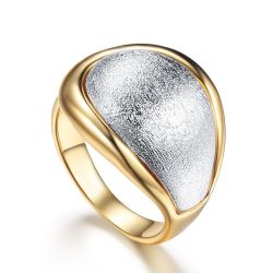 Gold & Silver Color  Cocktail Party Rings for Women