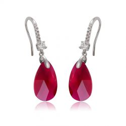 Crystals from Swarovski Water drop shape Dangle Earring for Women Gift