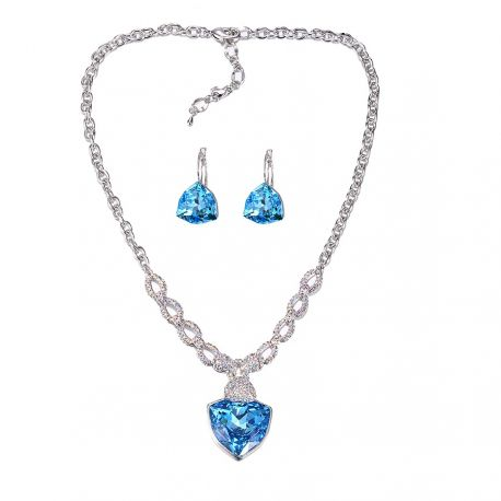 Luxury Big Crystals from Swarovski ®  Jewelry set for Women