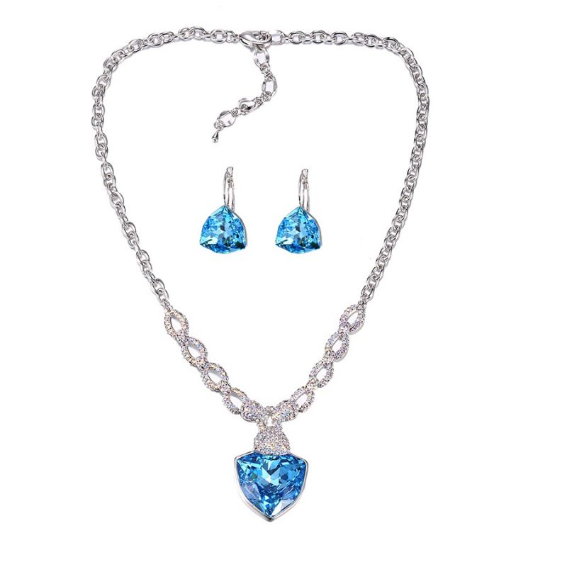Luxury Big Crystals from Swarovski ® Jewelry set for Women. Loading zoom