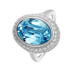 Luxury Big Crystals from Swarovski ®  Beautiful Cocktail Ring  for Women