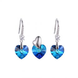 True Love Heart Crystals From Swarovski® Jewelry Set for Girls Valentines Gift