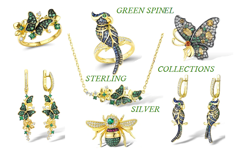 Green Spinal Collection Sterling silver jewelry